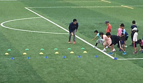 スタート練習の写真