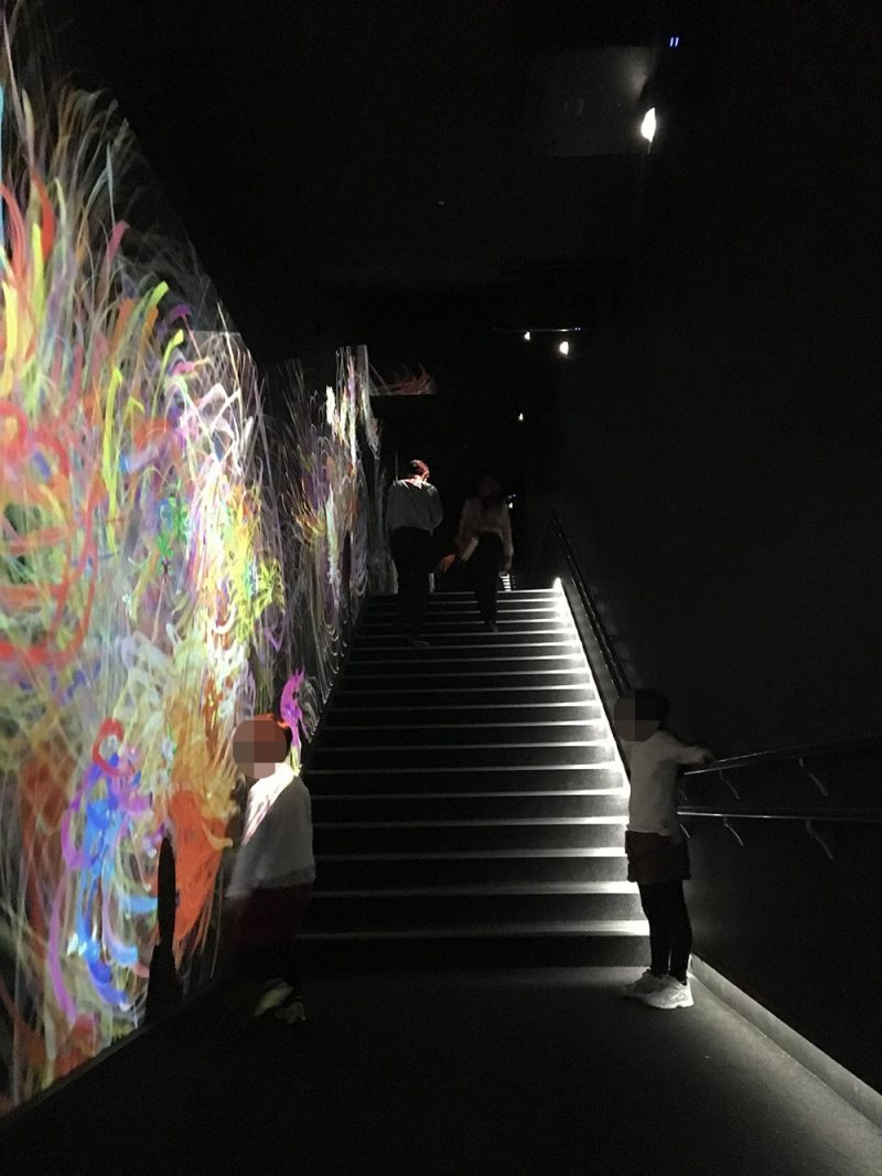「運動の森」へつながる階段