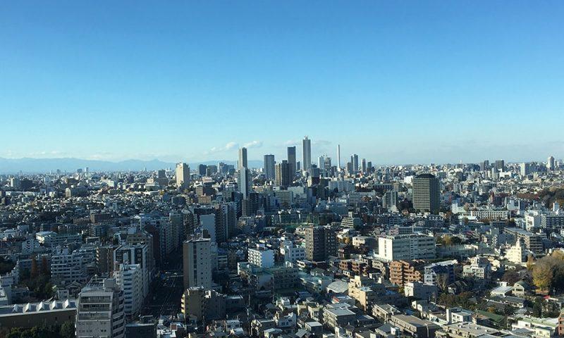 池袋方面。一番高い建物がサンシャイン60。