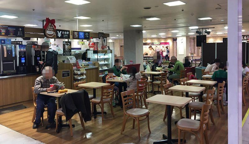 イオン西新井店の4Fの飲食スペース