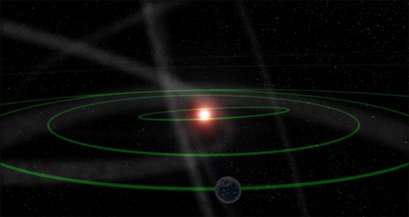 流星群の説明のイメージイラスト