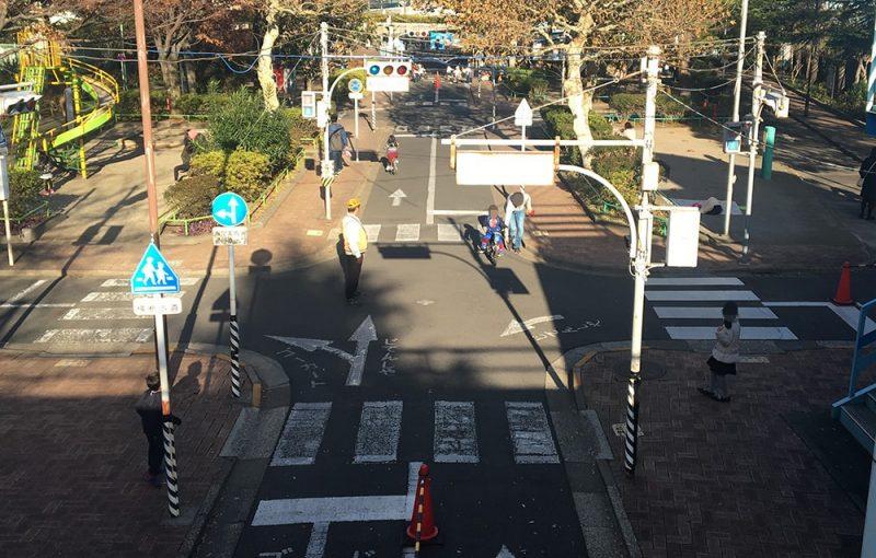 上から見た今井児童交通公園