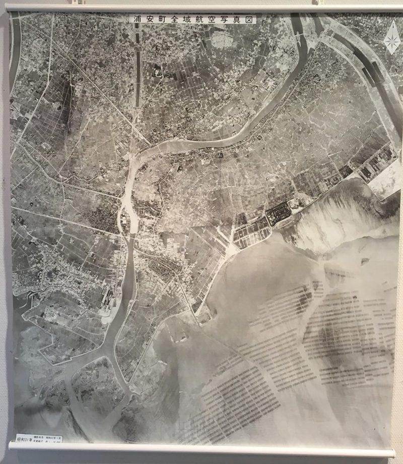 昭和31年の浦安の航空写真