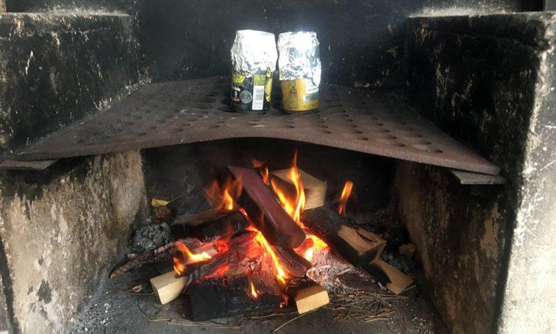 アルミ缶ご飯を炊きます