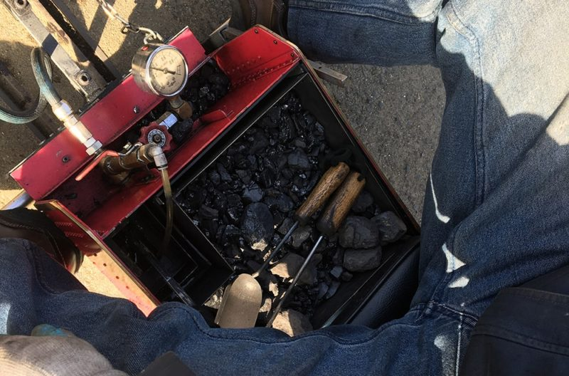 ミニSLの燃料の石炭