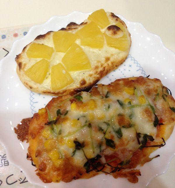 食のアトリエで作ったピザ