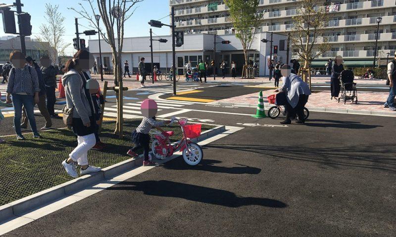 補助輪付き自転車乗り場