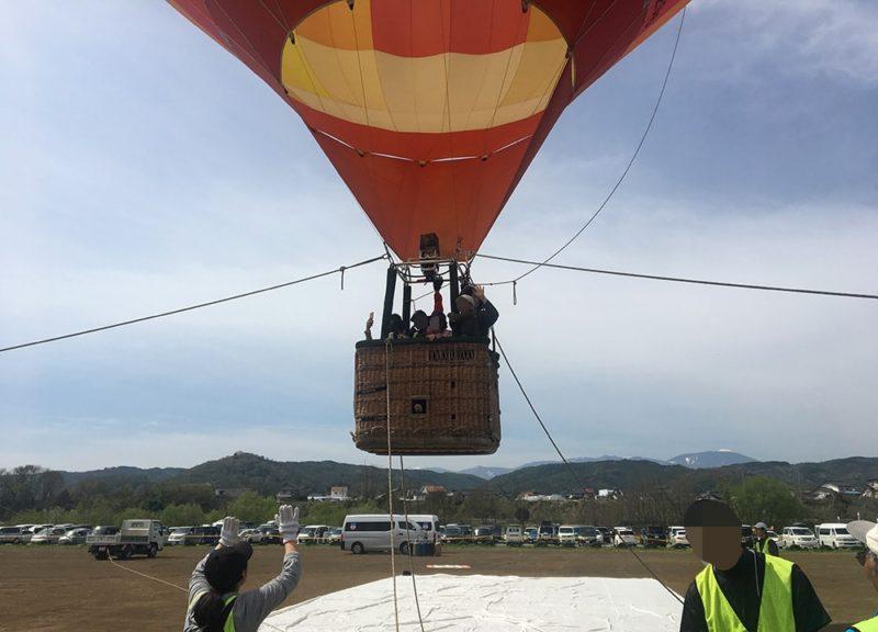 搭乗体験の気球