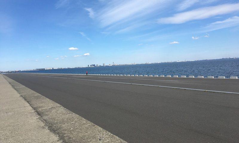 レッドブルエアレースの滑走路になる浦安の岸壁