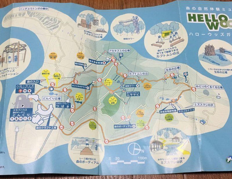 ハローウッズの地図