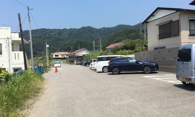 元名海水浴場の無料駐車場