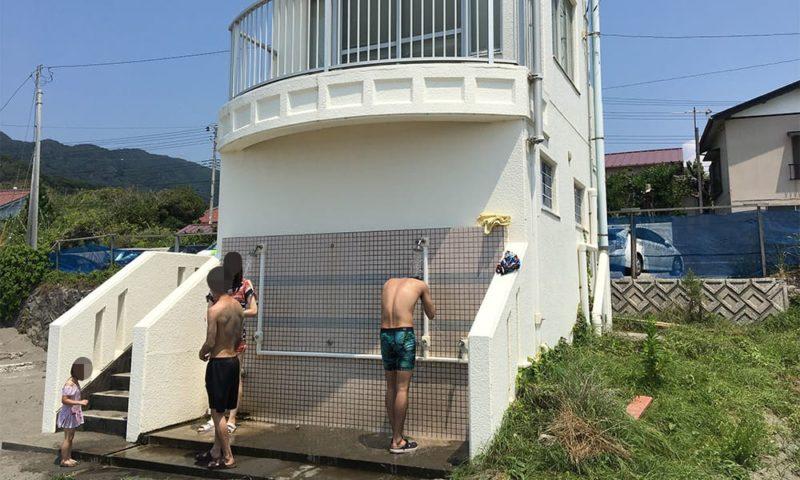 元名海水浴場のシャワー