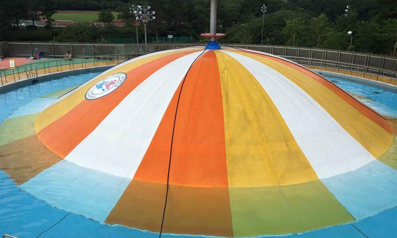 ドーム型滑り台プール