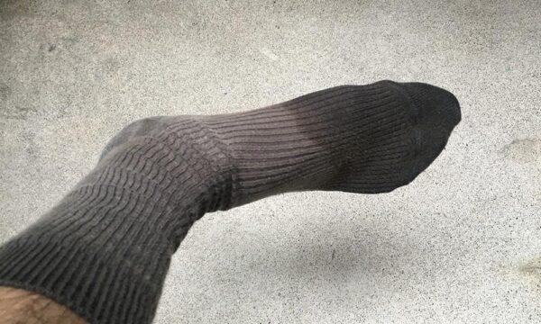 濡れた靴下
