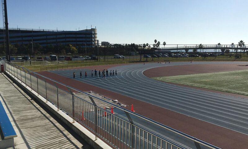 50m走のスタート前