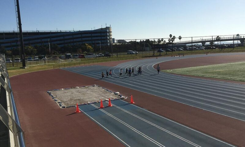 50m走のスタート直後