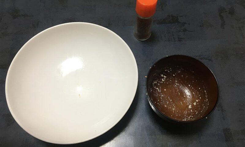 クルミ蕎麦完食!