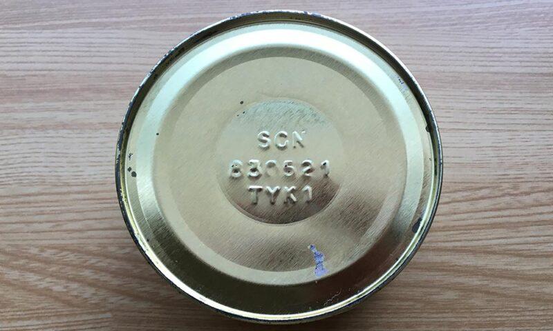高島屋のカニ缶の缶ぶた