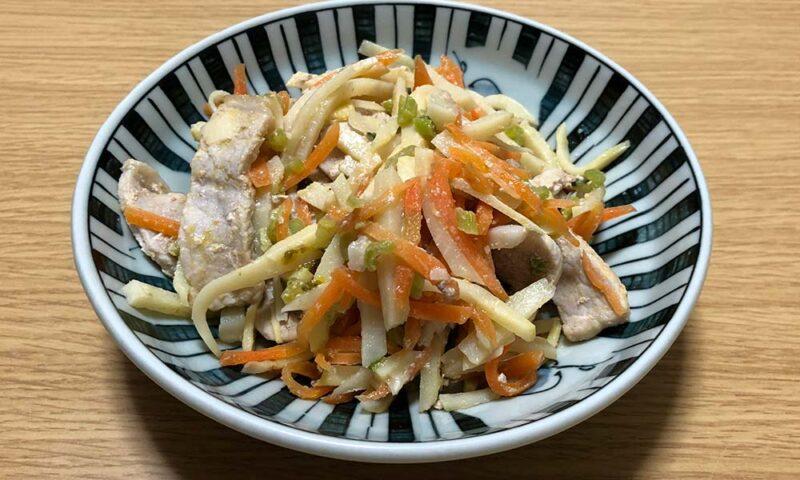 タケノコと豚肉の炒め物