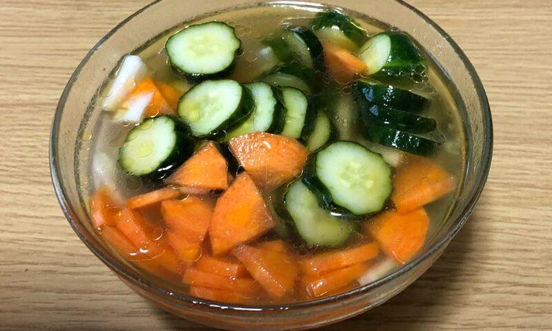 梅酢を使った野菜のマリネ