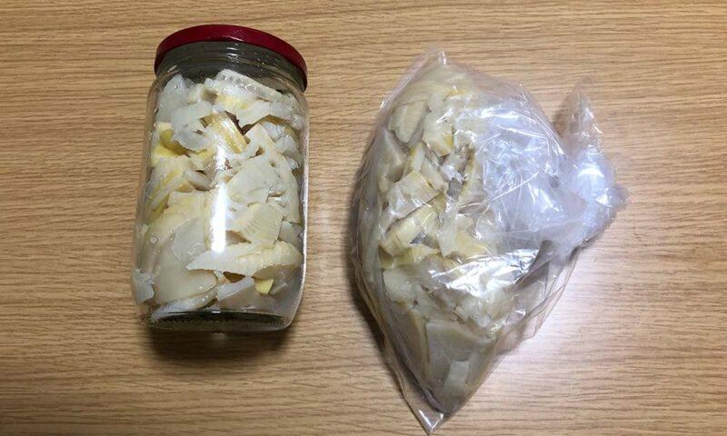 瓶と厚手のビニール袋で発酵タケノコ作り